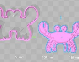3D print model Crab Cookie Cutter