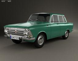 3D model AZLK Moskvitch 408 1964