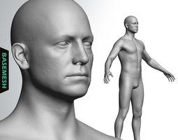 Average Caucasian Male Body Basemesh 3D