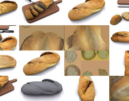 3D model Photoscanned Breads