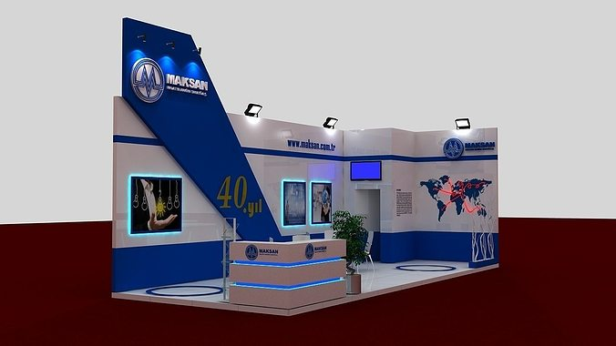 Exhibition Stand Designer Job Description : D mak exhibit fair stand cgtrader