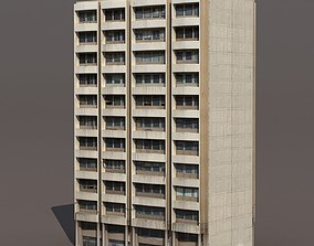 Residential Building 3D model low-poly