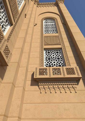 mosque window 3d model low-poly obj mtl fbx ma mb 1