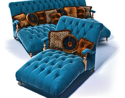 3D Jumbo Prestige Daybed and Chaise lounge