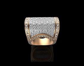 Ornament Diamonds Gold Ring 3D printable model