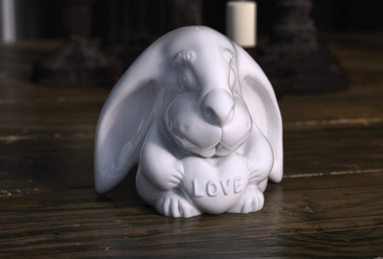 Rabbit with love heart