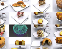 Photoscanned Bakery Items 3D