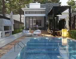 Private dual Villa 3D luxury