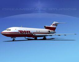 3D Boeing 727-100 DHL Cargo