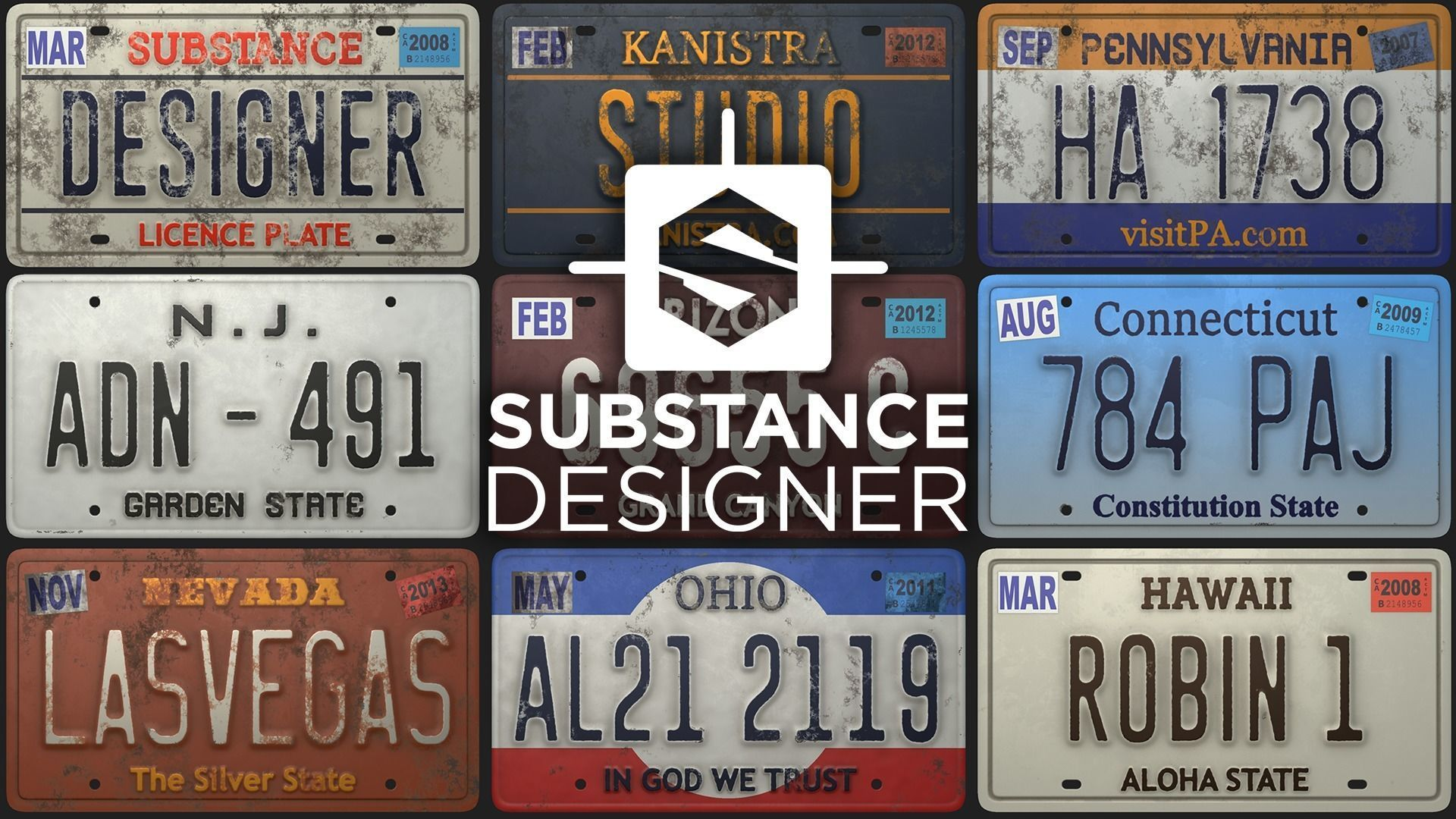 Licence Plate Substance Material