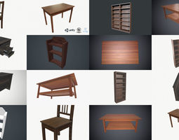 PBR Furniture Collection Low Poly PBR Game Ready 3D model