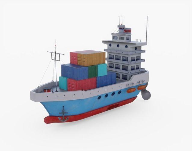 cargo ship 3d model obj mtl 3ds fbx stl blend 1