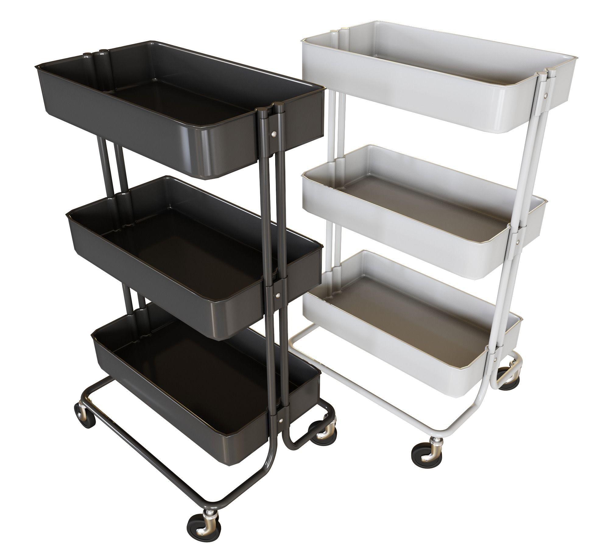 Ikea Cart On Wheels For Kitchen 3d Model