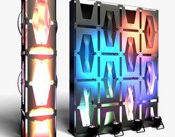 Stage Decor 36 Modular Wall Column 3D