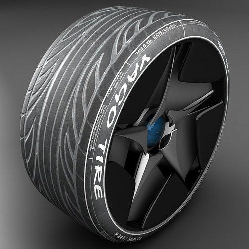 tire 3d model max obj mtl 3ds fbx ma mb 1