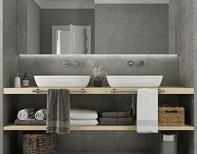 Furniture and decor for bathrooms 9 3D