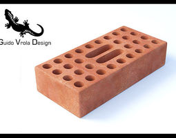 high quality perforated brick 3d model