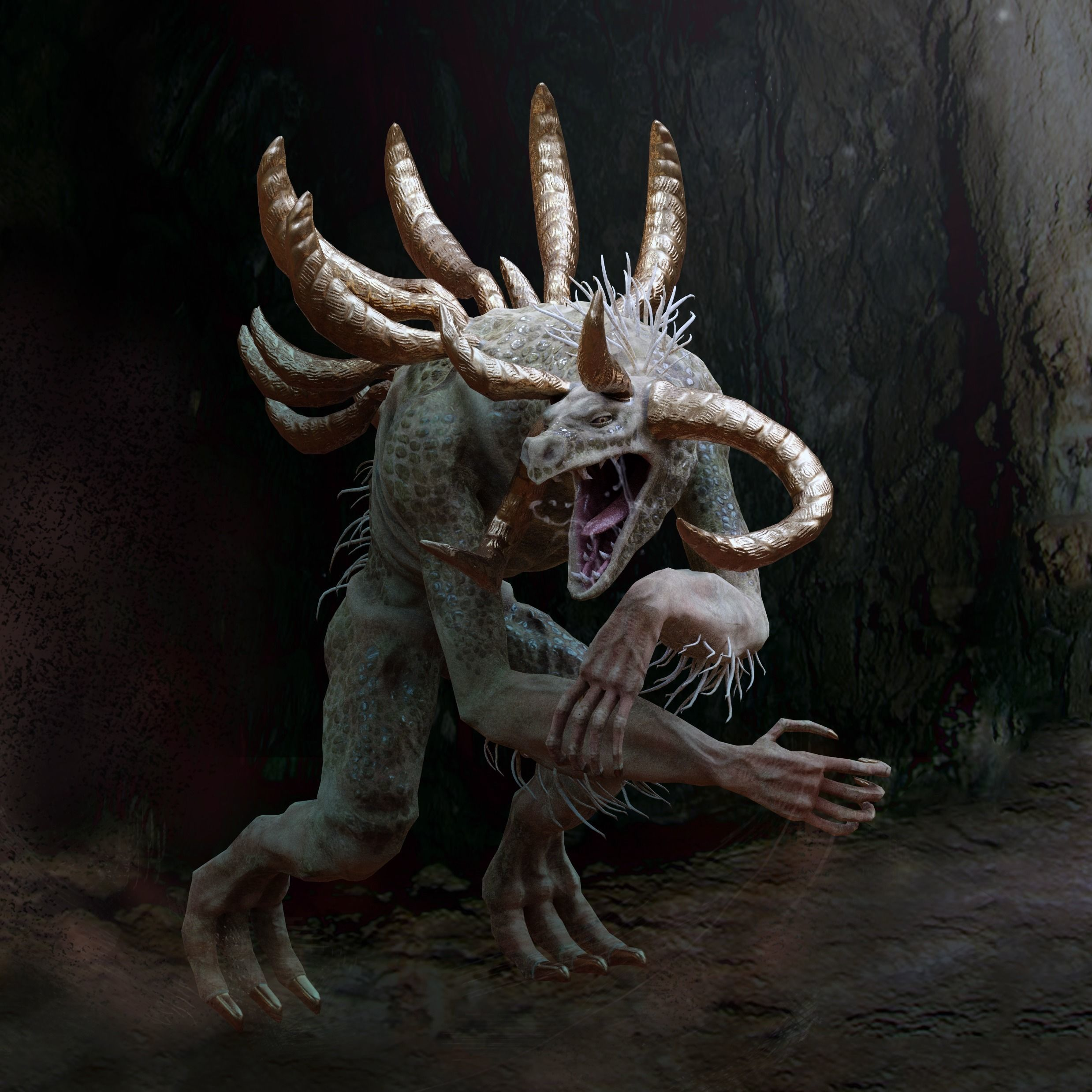 Green Cave Monster