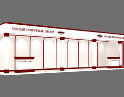 exhibition stand 27 3D model