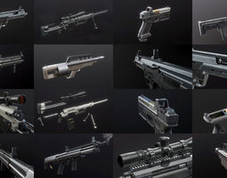 3d model first-person weapon pack