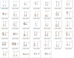 Bulk Earrings-0012-3dm with stones-40 Files