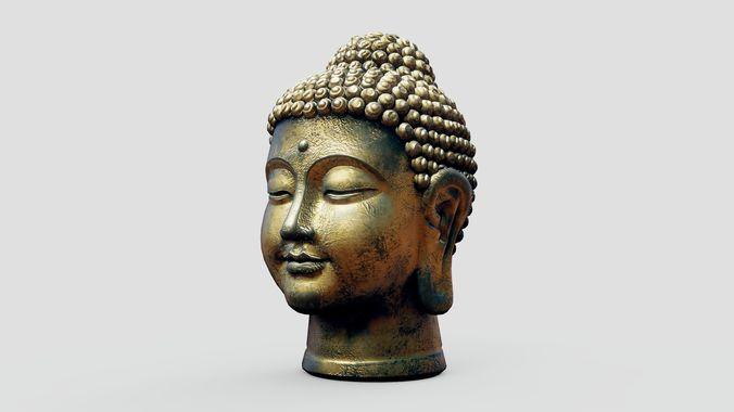 Buddha Old Golden Head