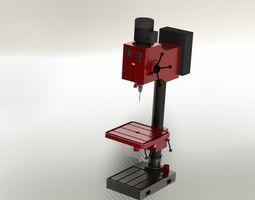 3D model Vertical drill machine