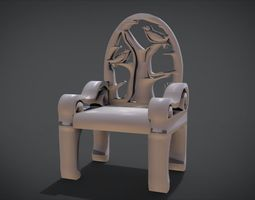 Unique Chair with a Bird Ornament model