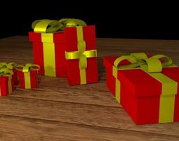 3D model gift package