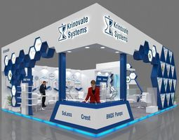 Exhibition stall 3d model 10x8 mtr 3sides open Krinovate