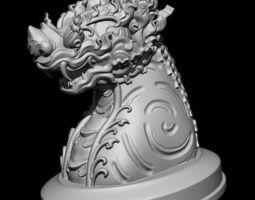 the leo singa - thai pattern 3d printing