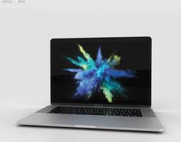 3D Apple MacBook Pro 15 inch 2016 Silver book