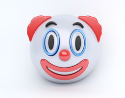 3D asset EMOJI CLOWN