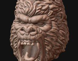 gorilla head 3d printable model
