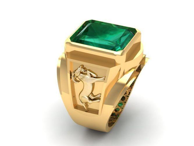 779 zodiac goat ring 3d model stl 3dm 1