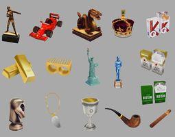 3D asset Various Objects