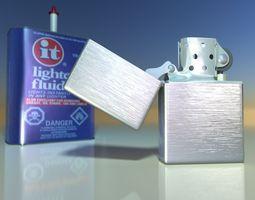 zippo lighter 3d