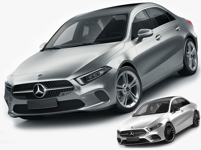 mercedes a-class sedan 2 versions 3d model max obj mtl 3ds fbx c4d lwo lw lws 1