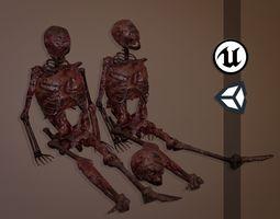 3D model Decomposing Flesh Skeletons - Game Ready - PBR