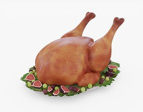 3D model Thanksgiving Turkey 02