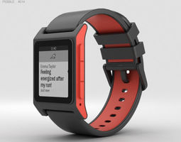 Pebble 2 Charcoal Flame 3D