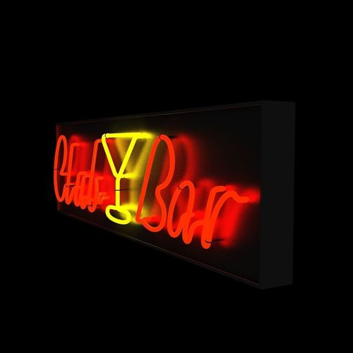 chinese neon light 3d model low-poly max obj mtl 1
