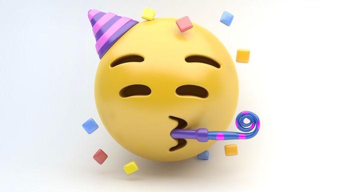 emoji party 3d model max obj mtl 3ds fbx 1