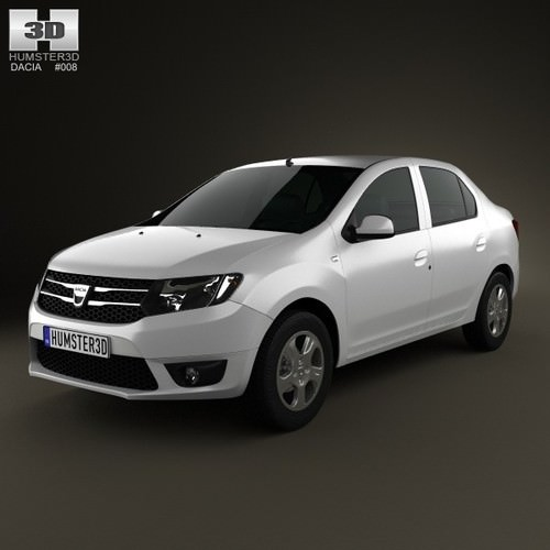Dacia Logan II Sedan 2013 3D Model MAX OBJ 3DS FBX C4D LWO