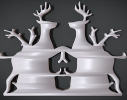 3D print model Wall decoration with deer motif