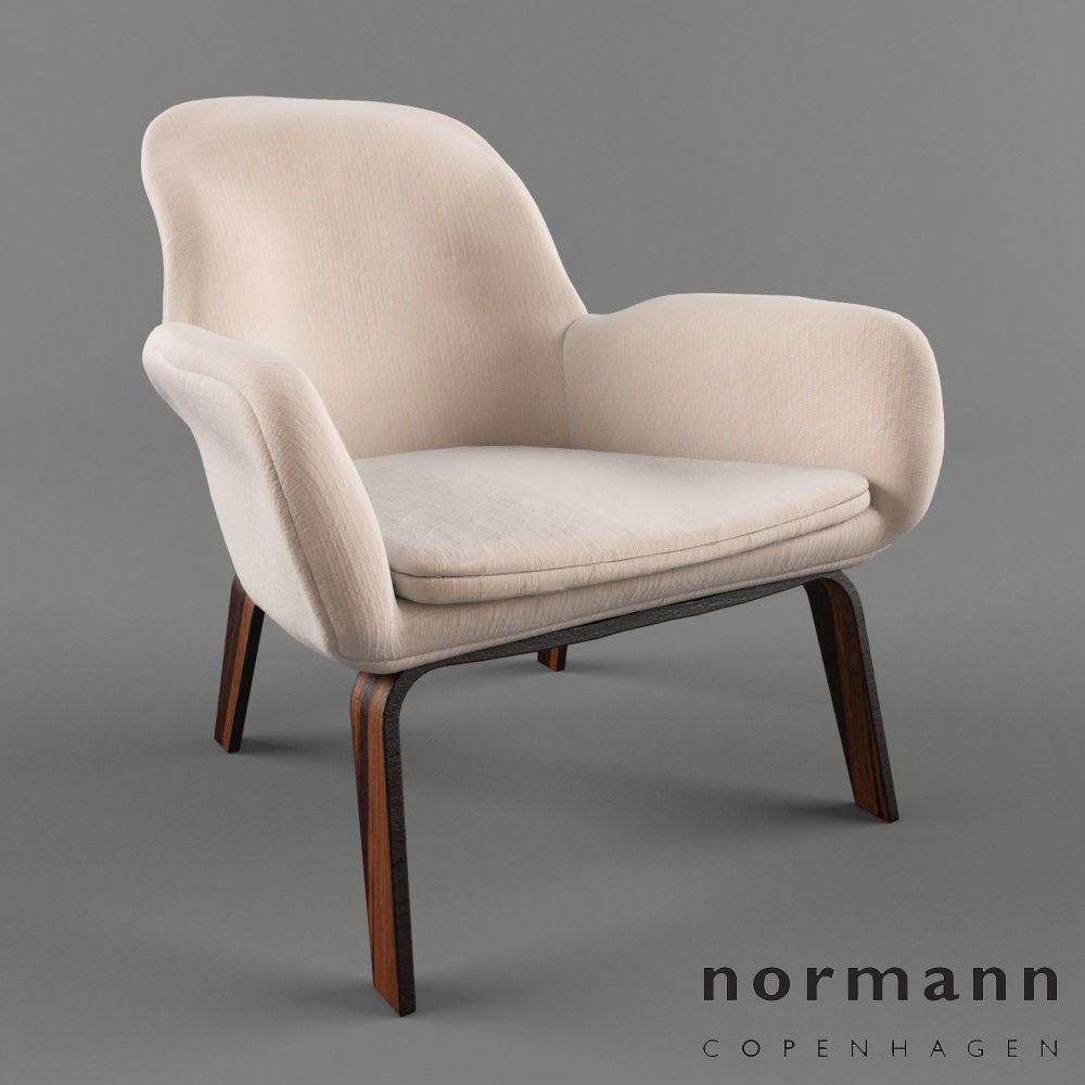 Incredible Normann Copenhagen Lounge Chair 3D Model Camellatalisay Diy Chair Ideas Camellatalisaycom