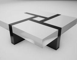 Modern Table modern 3D model realtime