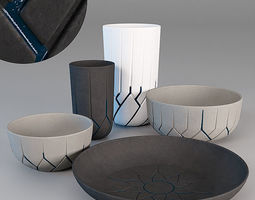 3D vase - collection - by Atipico - Frattali architectural
