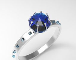 Diamond Ring 3D asset animated