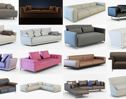3D A collection of different sofas 50 models